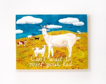 Goat Kid Card