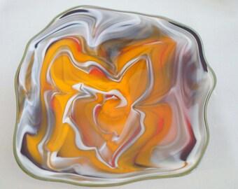 Wall Art Glass Blown Platter 675