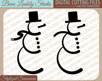Snowman SVG Cutting File, Holiday SVG, Christmas SVG, Snowman Clip Art, Winter svg File For Silhouette pattern, svg File For Cricut Projects