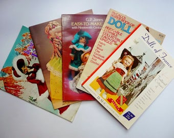 Vintage Doll Making and Doll Clothes Books Booklets - McCall's Super Book of Dolls, Dream Dolls, Living Dolls, Dolls of France