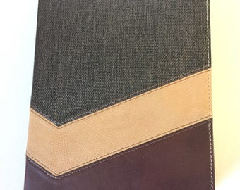 Brown Chevron Blank Leather Journal