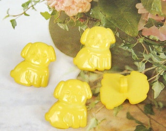 Cute dog button - 12 pcs (BT15)