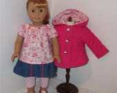 Hot Pink 4-Piece Jacket Set, Fits 18 Inch American Girl Dolls