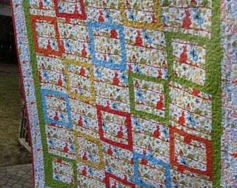 Aussie Kangaroo Toddler Quilt, Baby Quilt, Baby Boy Quilt, Animal quilt