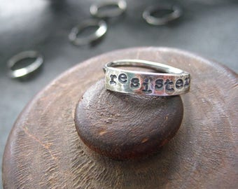 simple truths ring - reSister -  sterling silver