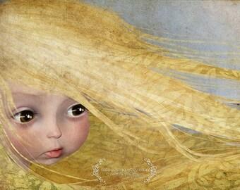 "ACEO ATC Artists Trading Card Fairy Art ""Summer"" - Nursery Art- Premium Fine Art"