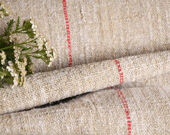 RW 518 antique hemp french 리넨 BRICK RED upholstery 8.96 yards laundered handloomed  benchcushion Beachhouse look
