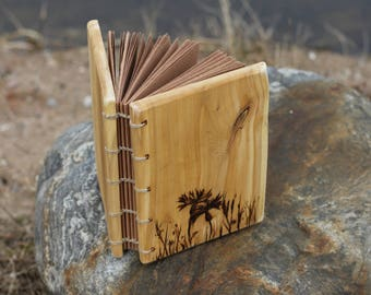 Rustic wood journal Forest meadow Diary