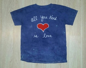 VALENTINES DAY SALE All You Need Is Love The Beatles Baby Batik tee shirt