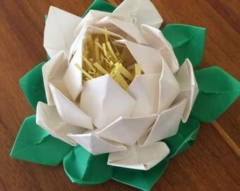 Lotus Handmade Paper Flower {White}