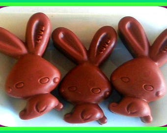 Soap - Bunnies - Easter Bunny - Chocolate Bunny - Soap for Kids - Set of 3