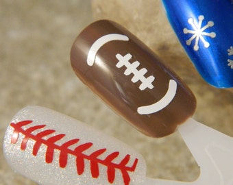 Football Fingernail Whimsy Nail Decals
