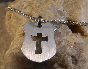 Protect My Police Officer Cross Necklace