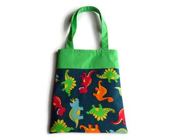 Dinosaur Gift Bag - Goodie Bag - Mini Tote - Lot of 10