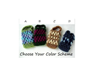 Phone or MP3 Player or Camera Cozy with Button, Handled, Made to Order, Custom