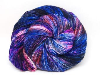 "Acoustic Sock Yarn - ""Galaxy"" - Handpainted Superwash Merino - 400 Yards"