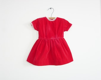 Vintage Red Velveteen Dress