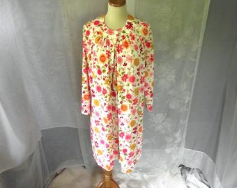 70s Nightgown n Robe Set B'Altman Sz M