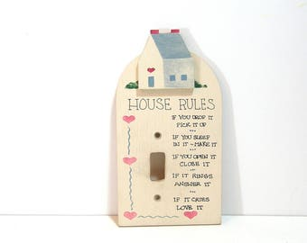 Country House Switchplate Cover with House Rules