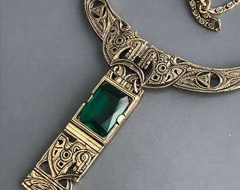 Vintage Signed Miracle Necklace . Celtic Necklace . High End Costume Jewelry