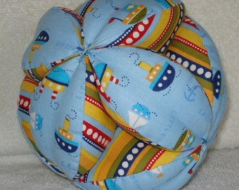 Little Sailor Boats and Anchors Easy-Catch Baby/Toddler Clutch Ball