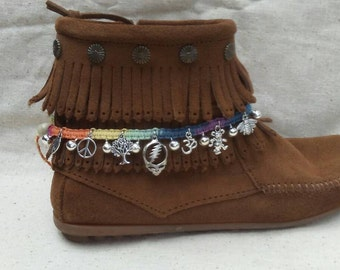 Grateful Dead rainbow hemp boot accessory or anklet