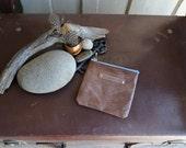 Kangaroo Leather Pouches - Medium Square in Medium Brown