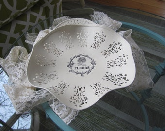 Decorative Chalk Painted Tray - French Fleurs (Flowers) Tray