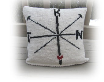 New! Knit Pillow Pattern - K N I T Compass