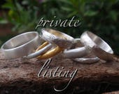 handmade textured wedding bands - private listing