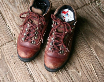 Timberhill Leather Hiking Boots US Womens Size 8 Vintage From Nowvintage on Etsy