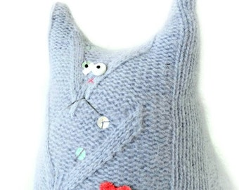 Stuffed Animal Cat Doll - Angora Wool Cat - Purple Cat - Stuffed Cat - Cat Lover Gift - Stuffed - Plush Animal - Soft Toys for Children