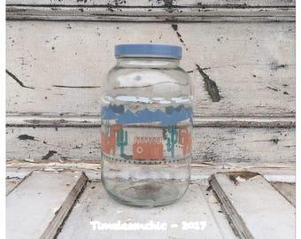 Cactus Decor - Sun Tea Jar - Sun Tea - Vintage Jar - Vintage Sun Tea Jar - Adobe Decor - Southwestern Decor - Change Jar - Large Glass Jar