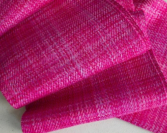 """Handwoven,  Hand-dyed Twill Rayon Scarf - Berry, 75""""x 5"""""""