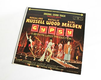 Vintage Gypsy Original Sound Track Record Album Broadway Musical Wall Decor Movie Memorabilia