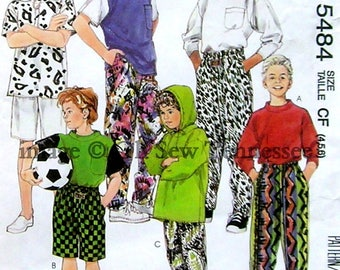 Sportswear for Children  - McCalls 5484 - Sewing Pattern, Sizes 4, 5, and 6