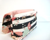 Coupon Organizer Budget Organizer Coupon Holder Coupon Waller   Attaches To You Shopping Cart - Rose Floral and Stripes