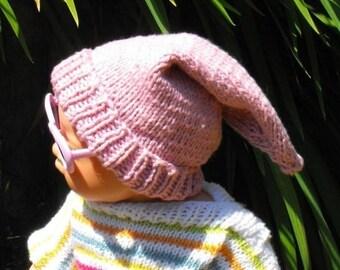 50% OFF SALE Digital file pdf download knitting pattern only- Baby Pixie Hat pdf download knitting pattern