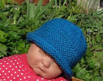 50% OFF SALE Instant Digital pdf download knitting pattern madmonkeyknits Baby Simple Garter Stitch Roll Brim Beanie Hat pdf knitting patter