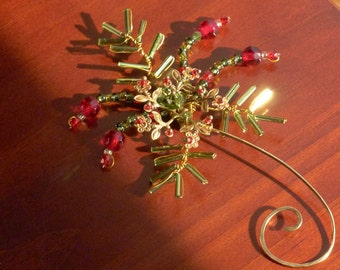 A Sprig of Green and Red