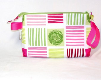 Yarn Squared in Pink and Green Tall Mia Bag