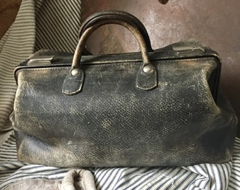 LEATHER DOCTOR BAG, Antique