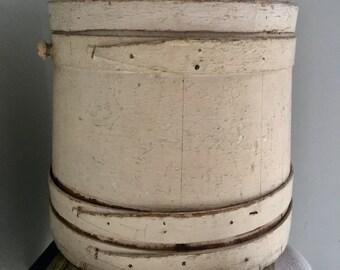 Antique Firken, 1800, French Sugar Firkin.