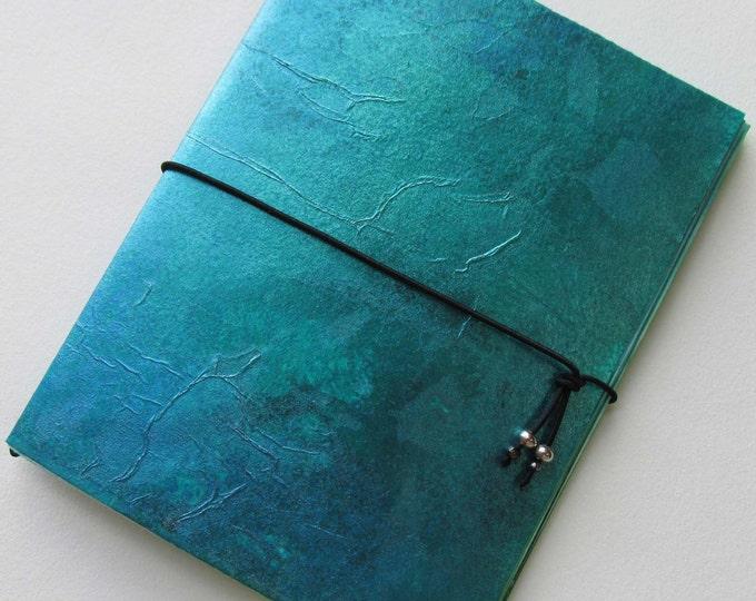 Collage Paper Junk journal Mini Notebook Wabi Sabi Purse Size Jotter smash scrap journal insert