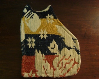 Primitive Antique Coverlet Cat Candle Mat