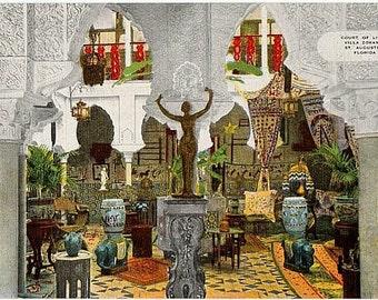 Vintage Florida Postcard - The Villa Zorayda Museum, St. Augustine (Unused)