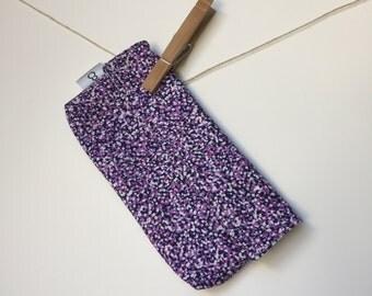 Reusable eco friendly washable Snack - mini purple dots