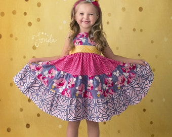 Girls Spring Dress- Aven Dress- 2017 Spring Collection from Melon Monkeys