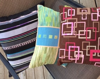 Choose one, hand made one of a kind needlepoint pillows sewn with silk and other threads