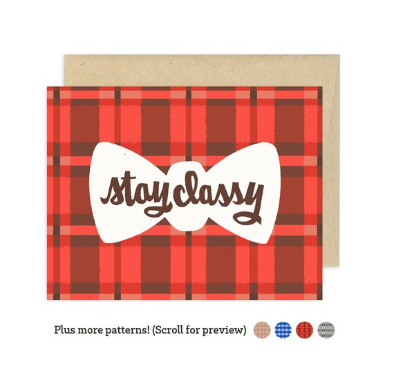 Stay Classy Illustrated Greeting Card
